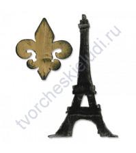 Нож для вырубки Bigz Die Fleur de Lis and Eiffel Tower, 2 элемента