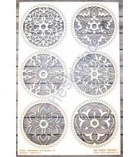 Чипборд Винтажные шестеренки-2, 6 элементов