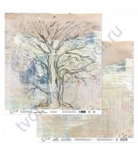 Бумага для скрапбукинга двусторонняя Наша история, 190 гр/м2, 30.5х30.5 см, лист 3