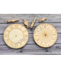 Деревянный чипборд Набор Часы, 6 элементов