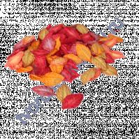 Листья розы без стебельков 4.5х2.5 см, цвет осенний микс, 10 шт
