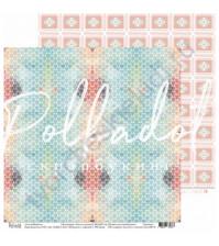 Бумага для скрапбукинга двусторонняя, коллекция Тепло и Уютно, 30.5х30.5 см, 190 гр\м2, лист Штрудель с корицей