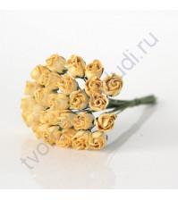 Бутоны роз полураскрытые 10 мм, 5 шт, цвет желтый
