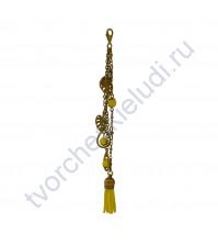 Кисточка-брелок для корешка Тропики, длина 15 см, 1 шт