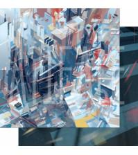 Бумага для скрапбукинга двусторонняя, коллекция GOрод GOворит, 30.5х30.5 см плотность 190г/м, лист Держи ритм