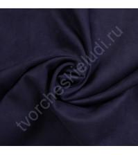 Искусственная замша двусторонняя, плотность 310 г/м2, размер 50х37 см (+/- 2см), цвет темный синий