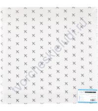Прозрачный ацетатный лист с серебряным фольгированием Аэропорт, 30.5х30.5 см, 150 гр/м