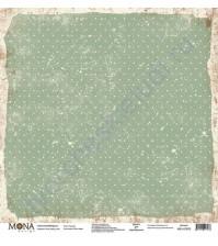 Бумага для скрапбукинга односторонняя Ретро кафе, 30.5х30.5 см, 190 гр/м, лист Горошек