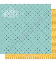 Бумага для скрапбукинга двусторонняя, коллекция Мой яркий мир, 30х30 см, 250 гр/м2, лист Волны и звезды