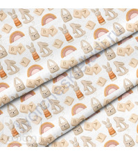 Ткань для рукоделия Игрушки, 100% хлопок, плотность 150 гр/м2, размер отреза 33х80 см