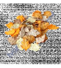 Листья шиповника без стебельков, коричневый микс 3,5х2,5 см, 10 шт