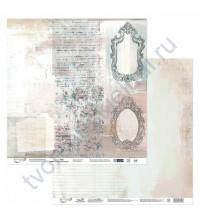 Бумага для скрапбукинга двусторонняя Наша история, 190 гр/м2, 30.5х30.5 см, лист 4