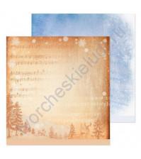 Бумага для скрапбукинга двусторонняя 30.5х30.5 см, 190 гр/м, лист Ноты