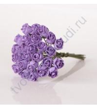 Бутоны роз полураскрытые 10 мм, 5 шт, цвет сиреневый
