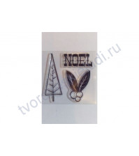 Набор штампов Noel, размер набора 6х6 см