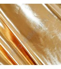 Кожзам на тканной основе Металлик, толщина 0.5 мм, 50х70 см,(+/-2см), цвет красное золото
