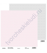 Бумага для скрапбукинга двусторонняя, коллекция Нежный шик, 30х30 см, 250 гр/м2, лист 5