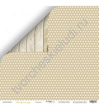Бумага для скрапбукинга двусторонняя 30.5х30.5 см, 190 гр/м, коллекция Tenderness, лист Сердечки