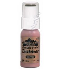 Краска акриловая металлизированная Adirondack® Dabbers на водной основе, флакон с аппликатором емкостью 29 мл, цвет медный