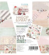 Набор двусторонней бумаги Сладкие праздники, 30.5х30.5 см, 190 гр/м, 6 листов