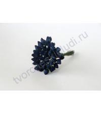 Бутоны роз средние закрытые 5 шт, цвет синий