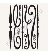 Набор клеевых дизайнов для фольгирования Scrolls, 10 элементов