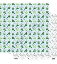 Бумага для скрапбукинга двусторонняя 30.5х30.5 см, 190 гр/м2, коллекция Жили-были, лист Царевна-лягушка