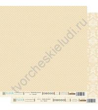 Лист бумаги для скрапбукинга Бисквит , коллекция Шебби Шик Базовая, 30 на 30 плотность 190 гр
