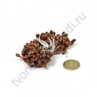 Тычинки двусторонние 3-4 мм, пучок 80 шт, цвет коричневый