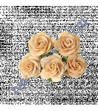 Розочки средние 2.5 см, 5 шт, цвет св. персиковый