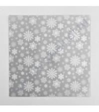 Калька декоративная с рисунком Снежинка, 30.5х30.5 см, плотность 250 гр/м2
