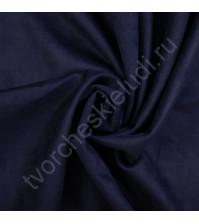 Искусственная замша Suede, плотность 230 г/м2, размер 35х50см (+/- 2см), цвет темная ночь