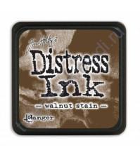 Штемпельная мини-подушечка Tim Holtz Distress Mini Ink Pads на водной основе, 2.5х2.5 см, цвет ореховая патина (walnut stain)