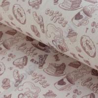 Ткань для рукоделия 100% хлопок, плотность 120г/м2, размер 48х50см (+/- 2см), коллекция Винтажный кофе, цвет 2