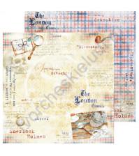 Бумага для скрапбукинга односторонняя Sherlock Holmes, 30.48х30.48 см, 190 гр/м, лист 6