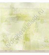 Бумага для скрапбукинга односторонняя коллекция Кулинарное искусство, 30.5х30.5 см, 190 гр/м, лист Зелень