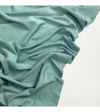Искусственная замша двусторонняя, плотность 260 г/м2, размер 50х70 см (+/- 2см), цвет темно-мятный