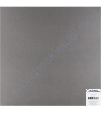 Кардсток гладкий Уголь (Charcoal), 30.5х30.5 см, 216 гр/м2