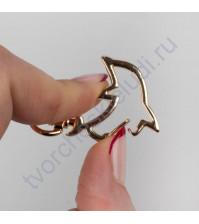 Карабин Дельфин, 2.8х4.3 см, цвет золото