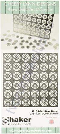 Набор металлического декора для шейкера Star Burst, 6х6 мм, 56 шт