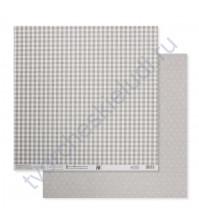 Бумага для скрапбукинга двусторонняя Базовая 30.5х30.5 см, 180 гр/м2, лист Серый