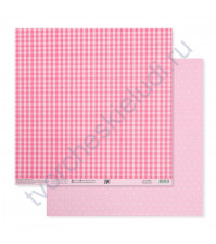 Бумага для скрапбукинга двусторонняя Базовая 30.5х30.5 см, 180 гр/м2, лист Розовый