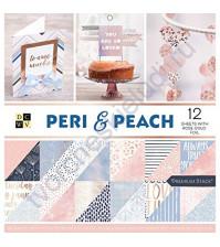 Набор двусторонней бумаги с фольгированием розовое золото Peri&Peach 30.5х30.5 см (ЦЕНА УКАЗАНА ЗА 1/2 ЧАСТЬ НАБОРА)
