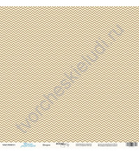 Бумага для скрапбукинга односторонняя 30.5х30.5 см, 190 гр/м, коллекция Такие мальчишки , лист Шеврон