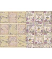 Скрап-карта двусторонняя Колыбельная/Кексы, без клеевого слоя, формат А4