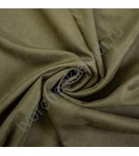 Искусственная замша двусторонняя, плотность 310 г/м2, размер 50х75 см (+/- 2см), цвет оливковый