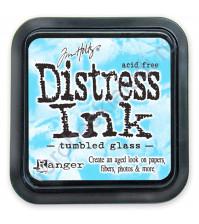 Штемпельная подушечка Tim Holtz Distress на водной основе, 5х5 см, цвет голубое стекло (tumbled glass)