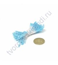 Тычинки двусторонние маленькие, 80 шт, цвет прозрачный голубой