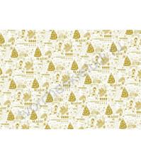 Пленка с золотым рисунком для декора The Nutcracker, коллекция The Nutcracker, толщина 0.25 мм, формат А4