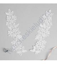Декоративный элемент Лейс, 8х27 см, цвет белый, 1 штука